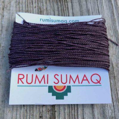Linhasita 211 Waxed Polyester Cord in Dark Lilac | Rumi Sumaq Waxed Thread