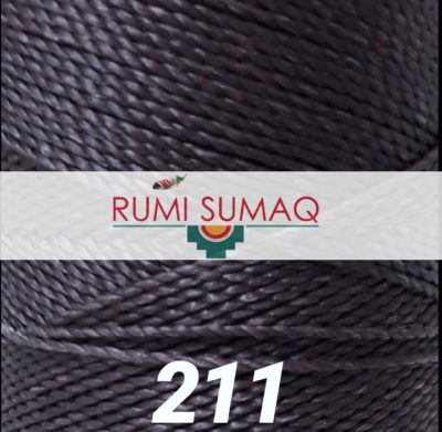 Linhasita 111 Dark Lilac Purple 1 mm Waxed Polyester Cord | Rumi Sumaq Waxed Thread 1mm