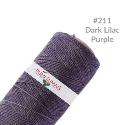 Linhasita 211 Dark Lilac Cord 1mm Waxed Polyester | Rumi Sumaq Waxed Threads