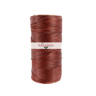 Linhasita 212 Copper 1mm Waxed Polyester Cord | Rumi Sumaq Waxed Macrame Cord for Beading, Jewelry Making, Basketry, Leather Working, Hand Stitching, Quilting and Macrame Knotting