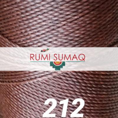 Linhasita 212 Copper 1mm Waxed Polyester Cord | Rumi Sumaq Waxed Thread