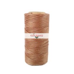 Linhasita 215 Beige Sand 1mm Waxed Polyester Cord | RUMI SUMAQ Waxed thread for Friendship Bracelets, Macrame Knotting, Basket Making, Leather Working, Beading, Quilting and Hand-Stitching