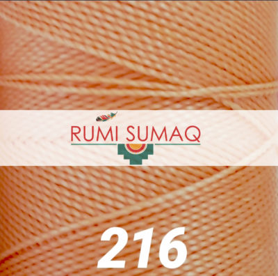 Linhasita 216 Peach Waxed Polyester Cord | RUMI SUMAQ Waxed Quilting Thread, Friendship Bracelet Cord, Beading Cord for Macrame Bracelets