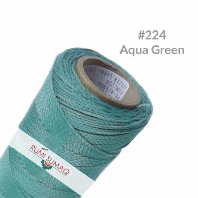 Linhasita 224 Aqua Green 1mm Waxed Polyester Cord | RUMI SUMAQ Waxed Thread