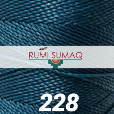1mm Linhasita 228 turquoise waxed polyester cord 1mm 2-ply waxed cord for macrame knotting projects, leather working, basket making, beading and jewelry making