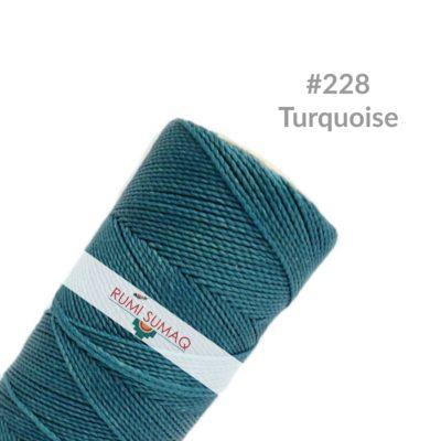 Linhasita 228 Waxed Thread Bobbin 1mm Turquoise Waxed Polyester Cord | RUMI SUMAQ