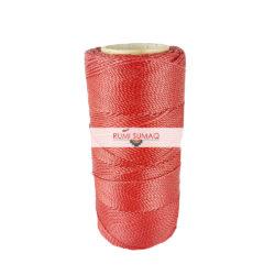 Linhasita 233 Red Waxed Polyester Cord 1mm Waxed Thread Hilo Encerrado   Rumi Sumaq