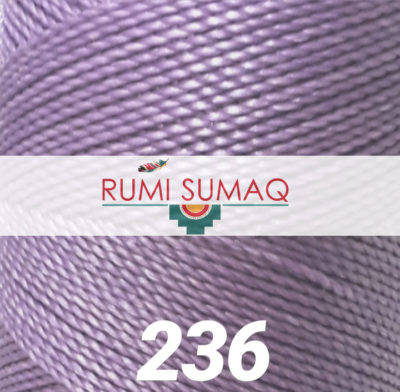 Linhasita 236 Lilac Purple 1mm Waxed Polyester Cord | RUMI SUMAQ Quilting Thread, Beading Cord, Waxed Thread for Macrame Jewelry, L:eather Working and Basket Making