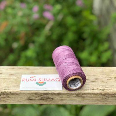 Linhasita 236 Lilac Purple 2ply Waxed Cord 1mm | RUMI SUMAQ Thread