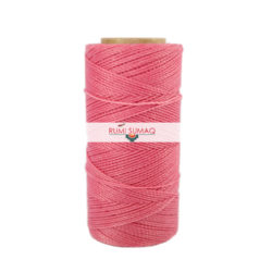 Linhasita 237 Bubblegum Pink 1mm Waxed Polyester Cord   Rumi Sumaq Waxed Thread Hilo Encerrado Rosado