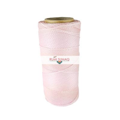 Linhasita 239 Pale Pink 1mm Waxed Polyester Cord   RUMI SUMAQ Quilting Thread, Macrame Cord, Friendship Bracelet String
