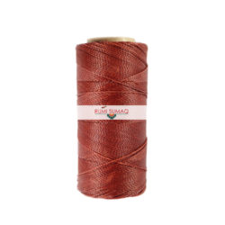Linhasita 25 Waxed Polyester Cord 1mm in Rust orange | RUMI SUMAQ Waxed Thread