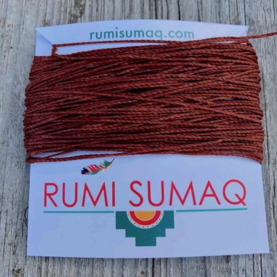 Linhasita 25 waxed Polyester Cord 1mm Waxed thread in Rust Orange | Rumi Sumaq Waxed Polyester Cords