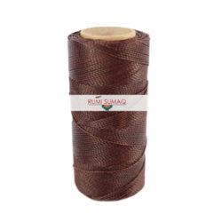 Linhasita 259 Dark Brown 1mm Waxed Polyester Cord   RUMI SUMAQ Beading Thread, Macrame Cord, Hilo Encerrado, Hand Stitching Thread, Basket Making Cord