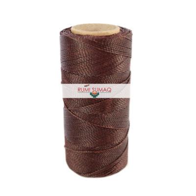 Linhasita 259 Dark Brown 1mm Waxed Polyester Cord | RUMI SUMAQ Beading Thread, Macrame Cord, Hilo Encerrado, Hand Stitching Thread, Basket Making Cord