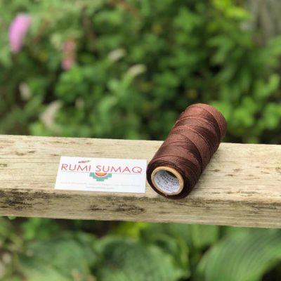 Linhasita 273 Brown 2-ply Waxed Polyester Cord 1mm | RUMI SUMAQ