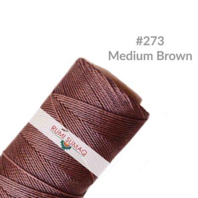 Linhasita 273 Waxed Polyester Cord 1mm | Rumi Sumaq Waxed Threads