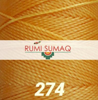 Find 1mm Linhasita 274 saffron orange yellow waxed polyester cord at RUMI SUMAQ, the premier retailer for hilo encerrado, waxed knotting cord, beading thread, wax string