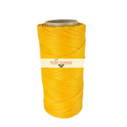 Linhasita 274 Saffron Yellow Orange 1mm Waxed Polyester Cord   Rumi Sumaq Hilo Encerrado Amarillo