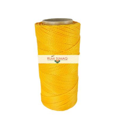 Linhasita 274 Saffron Yellow Orange 1mm Waxed Polyester Cord | Rumi Sumaq Hilo Encerrado Amarillo