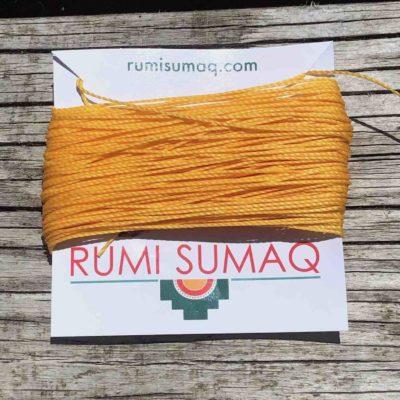 Waxed Thread Linhasita 274 Saffron Yellow Orange | RUMI SUMAQ Waxed Polyester Cord