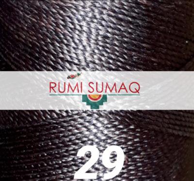 Linhasita 29 espresso brown 1mm waxed polyester cord | RUMI SUMAQ waxed cord