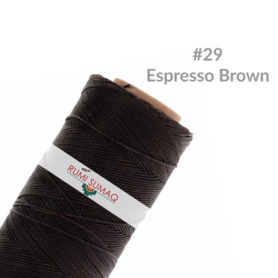 Linhasita 29 Espresso Brown Waxed Polyester Cord 1mm Hilo Encerado | Rumi Sumaq Brown Waxed Thread