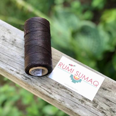 Linhasita 29 Espresso Brown Waxed Polyester Cord 1mm Hilo Encerado | Rumi Sumaq Brown Waxed Thread