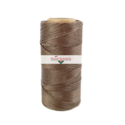 Find Linhasita 293 taupe waxed polyester cord at RUMI SUMAQ, the premier retailer for 1mm Linhasita brand waxed thread for knotting, basket making, beading.