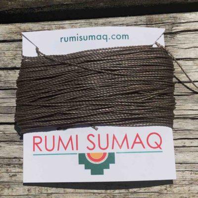 Linhasita 293 Dark Taupe 1mm Waxed Polyester Cord   RUMI SUMAQ
