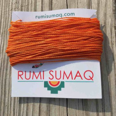 Linhasita 30 Orange 1mm Waxed Thread   RUMI SUMAQ Waxed Cord