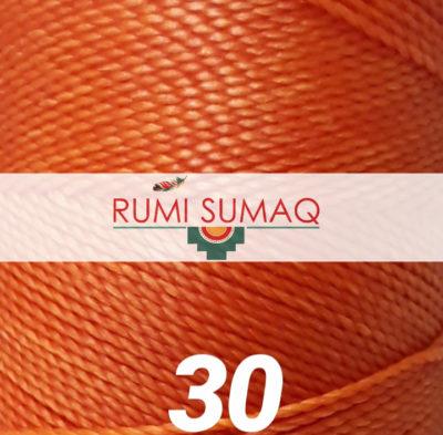 Linhasita 30 Orange 1mm Waxed Polyester Cord Hilo Encerrado   Rumi Sumaq Macrame Knotting Cord for Macrame Jewelry, Hand Stitching Leather, Basket Making, Beading and Basket Making