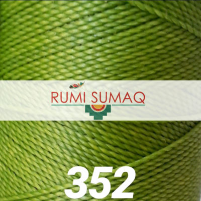 Find Linhasita 352 lime green 1mm waxed polyester cord at RUMI SUMAQ, the premier retailer for waxed thread for leather working, quilting, knotting, beading