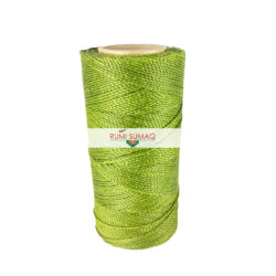 Find Linhasita 352 lime green 1mm waxed polyester cord at RUMI SUMAQ, the premier retailer for waxed thread for leather working, quilting, knotting, beading, macrame jewelry, leather working
