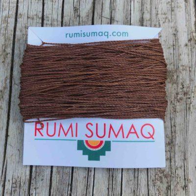 Linhasita 354 Light Brown waxed Polyester Cord | Rumi Sumaq Hilo Encerado 1mm Waxed Threads