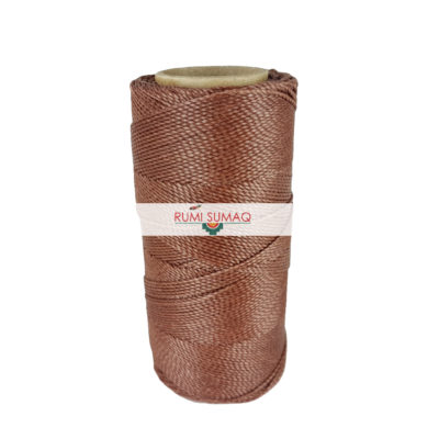 Find Linhasita 354 light brown 1mm waxed polyester cord at RUMI SUMAQ, the premier retailer for waxed thread for macrame, bead bracelets, hand-stitching, basketry