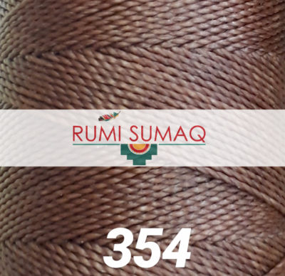 Find Linhasita 354 brown 1mm waxed polyester cord at RUMI SUMAQ, the premier retailer for waxed thread for macrame, bead bracelets, hand-stitching, basketry