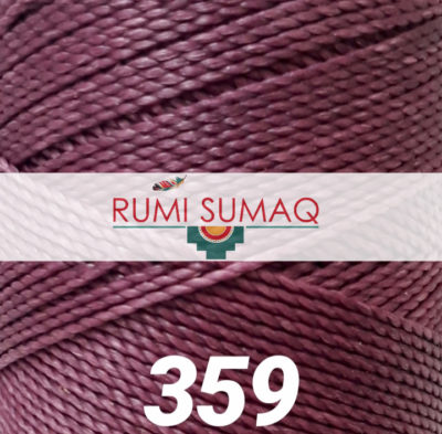 Find Linhasita 359 mauve 1mm waxed polyester cord at RUMI SUMAQ, the premier retailer for waxed thread for macrame, bead bracelets, hand-stitching, basketry
