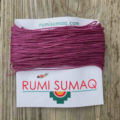 Linhasita 360 Light Orchid Waxed Polyester Cord | Rumi Sumaq Waxed Threads Hilo Encerado