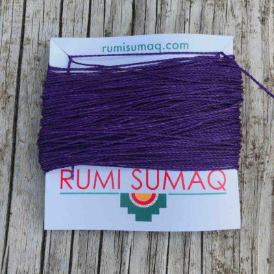 Linhasita 369 Purple Waxed Polyester Cord 1mm Waxed Threads by RUMI SUMAQ