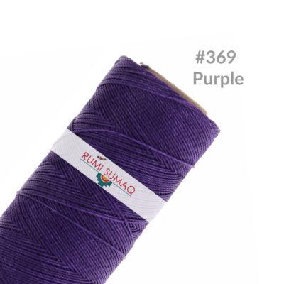 Linhasita 369 Purple waxed Polyester cord 1mm | RUMI SUMAQ