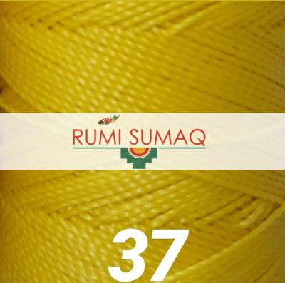 Linhasita 37 bright yellow 1mm waxed polyester cord | RUMI SUMAQ macrame jewelry hilo encerrado