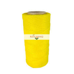 Linhasita 37 Bright yellow waxed polyester cord 1mm waxed thread | RUMI SUMAQ macrame jewelry making supplies
