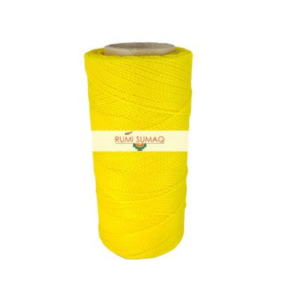 Linhasita 37 Bright yellow waxed polyester cord 1mm waxed thread | RUMI SUMAQ macrame jewelry making supplies