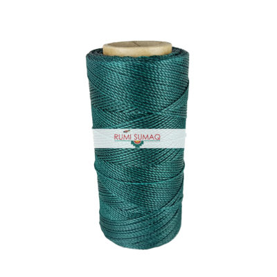 Find Linhasita 386 green 1mm waxed polyester cord at RUMI SUMAQ, the premier retailer for waxed cords for basketry, jewelry making, beading and quilting.