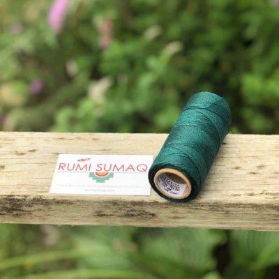 Linhasita 386 Waxed Polyester Thread 1mm in Peacock Feather Green | Rumi Sumaq Waxed Cords