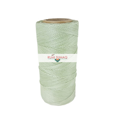 Find Linhasita 397 mint green 1mm waxed polyester cord at RUMI SUMAQ, the premier retailer for waxed cords for basketry, jewelry making, beading, quilting, macrame knotting