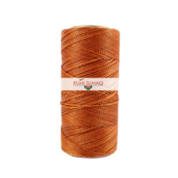 Find Linhasita 498 caramel 1mm waxed polyester cord at RUMI SUMAQ, the premier retailer for waxed cords for basketry, jewelry making, beading, quilting, leather hand-stitching and friendship bracelets