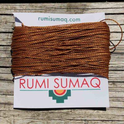 Linhasita 498 Caramel Waxed Polyester Cord | Rumi Sumaq