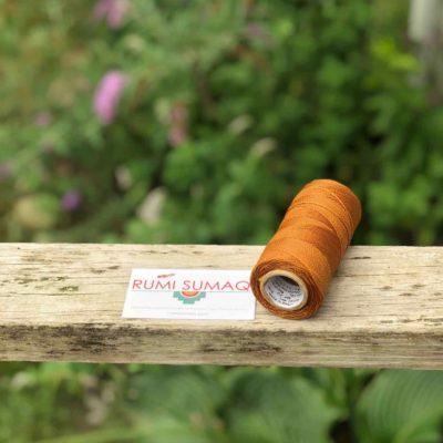 Linhasita 498 Caramel Brown Waxed Polyester Cord 1mm | RUMI SUMAQ